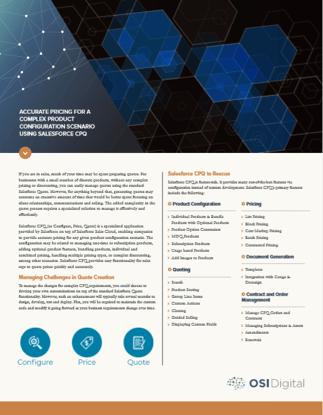 Salesforce CPQ DataSheet Cover